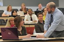 CU anschutz professor and students